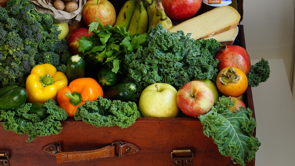 vegetable box with fruit