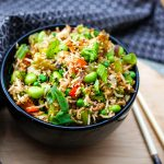 Healthy lunch for work - Edamame rice bowl