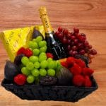 Luxury Fruit Gift Basket with Fizz and Chocolates
